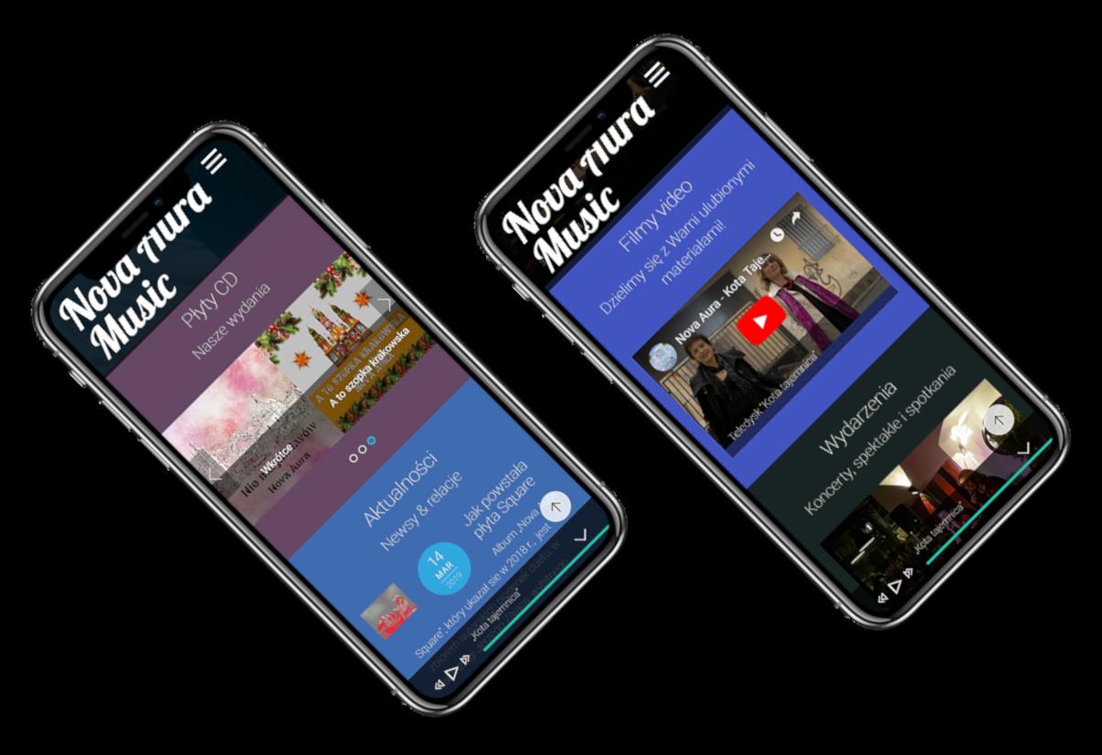 widok strony na urządzeniach mobilnych